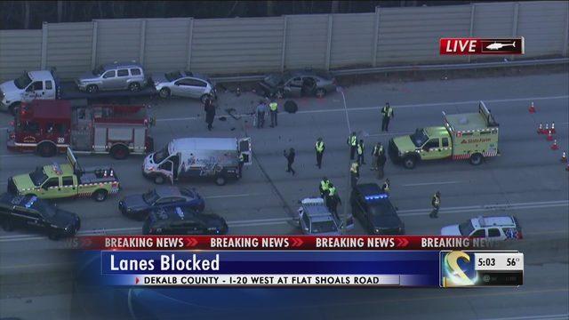 CRASH BLOCKING I-20: Several lanes reopen after crash closed