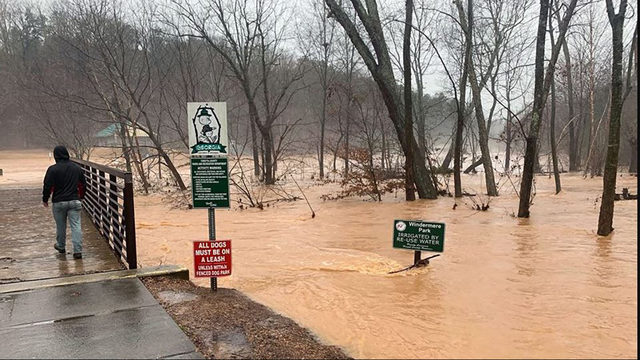 flooding in atlanta flood warnings issued roads yards could be