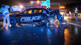 Suspected drunk driver slams into police car early New Year's day