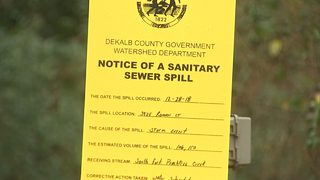 Nearly half a million gallons of raw sewage spilled into local water after rain