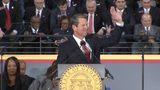 Brian Kemp address crowd after he takes Oath of Office