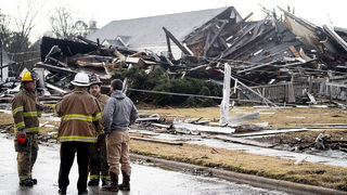 Possible tornado leaves trail of destruction in Alabama town