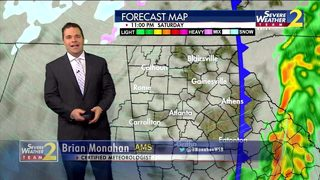 Cold air rushes in overnight