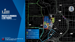 Heads up, drivers: Multiple roads close for Super Bowl events starting Monday