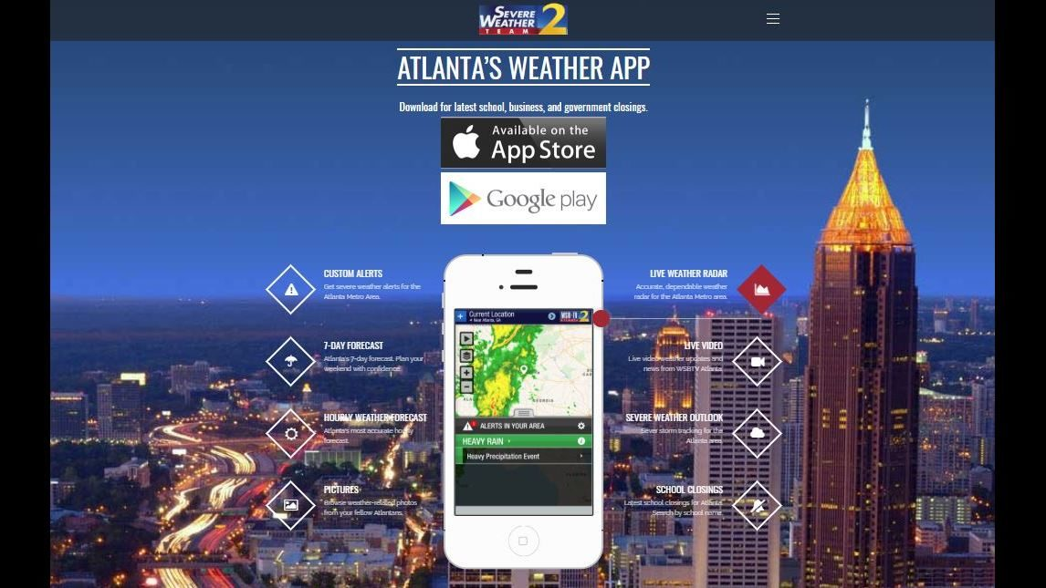 BEST ATLANTA WEATHER APP: Download the FREE Severe Weather Team 2