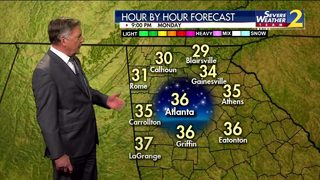 Mid to upper 30s for Monday evening