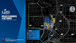 Heads up, drivers: Multiple roads close for Super Bowl events beginning today