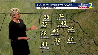 Rain clearing out of metro Atlanta Thursday morning