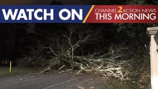Heavy rain causes downed trees, flooding across Georgia