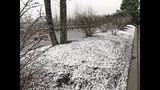 Snow on the ground in Blueridge Tuesday morning