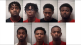 Top row, from left: Armani Jaheim Mowatt, Troy Imahn Lankford, Jordan Mackenzie Payne, Kendel DeLeon Raymond. Bottom row: Aldorian Rashad Hatch, Dominick Dionte Jones, Elden Jarod Anderson. Photo: Henry County Sheriff's Office