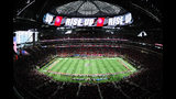 ATLANTA, GA - NOVEMBER 12: A general view of Mercedes-Benz Stadium prior to the game between the Atlanta Falcons and the Dallas Cowboys on November 12, 2017 in Atlanta, Georgia. (Photo by Scott Cunningham/Getty Images)