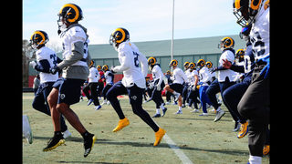 PHOTOS: Rams practice outside 2 days before Super Bowl