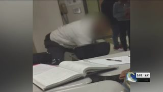 Teacher under investigation over video that shows him repeatedly hitting student