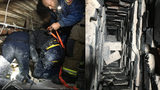 Atlanta Fire Rescue worked to get a man out of a chimney after he got stuck.