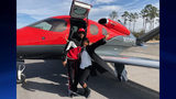 21 Savage was released Wednesday and is seen here boarding a private plane with his mother. (Photo via 21 Savage's attorneys)
