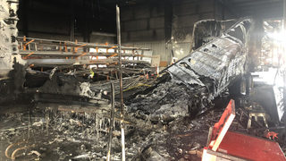 Worker severely burned after tractor-trailer explodes in repair shop