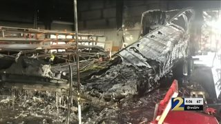 Worker severely burned when tractor-trailer explodes in repair shop
