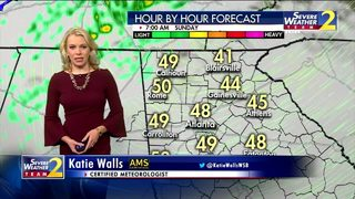 Cold, rain moving in Sunday