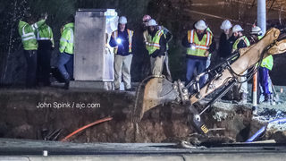 RIGHT NOW: Busy Gwinnett intersection closed due to water main break, road collapse