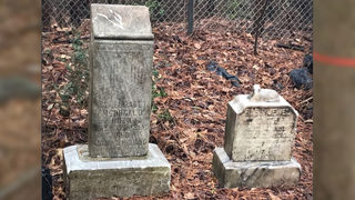 Neighbors upset someone moved headstones from cemetery dating back to 1800s