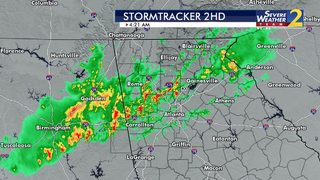 Storms, heavy rain moving through metro Atlanta right now -- More expected later
