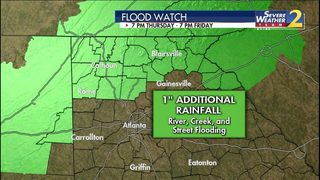 Flood watch takes effect for north Georgia with more rain on the way