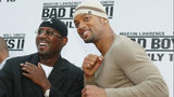 """WESTWOOD, CA - JULY 9: Actors Martin Lawrence and Will Smith attend the """"Bad Boys II"""" movie premiere at the Mann's Village theatre on July 9, 2003 in Westwood, California. (Photo by Kevin Winter/Getty Images)"""