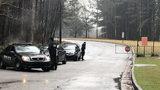 Scene where investigators say a burned body was found.