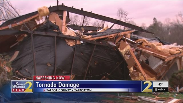 ALABAMA TORNADO GEORGIA: Tornado destroys homes in Georgia