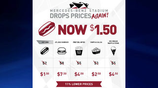 Mercedes-Benz Stadium cuts food prices AGAIN!