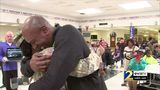 RAW: Army specialist surprises father at school