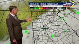 Scattered showers for early Friday morning