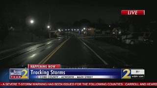 Severe weather impacts parts of the metro area