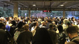 Major delays have been reported at several MARTA stations, including this scene at the Arts Center station. MARTA officials say an emergency situation at Lindbergh station led to delays. Photo: Pete Corson, The Atlanta Journal-Constitution.