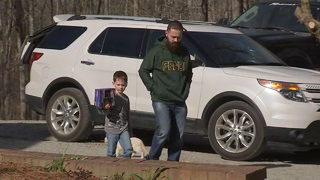 Dad describes terrifying moments when car was stolen with son inside