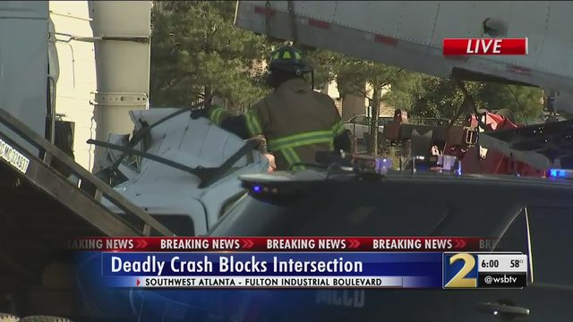 Authorities investigating deadly crash at busy SW Atlanta
