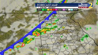 Large hail, strong wind gusts possible with storms this afternoon