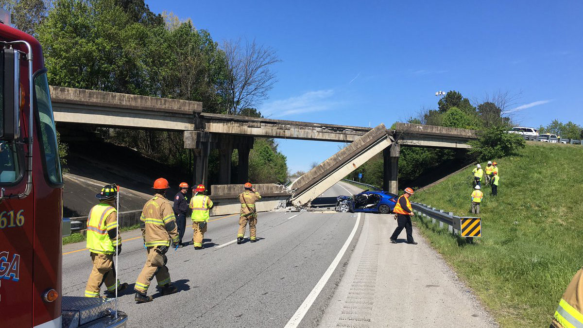 I-75 BRIDGE COLLAPSE: Bridge collapses on I-75 in Chattanooga