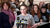 "RAW: Alyssa Milano talks controversial ""Heartbeat Bill"" at Ga. State Capitol"