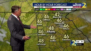 Mild temps Wednesday night