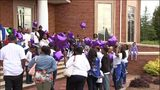 Vigil held for pregnant woman, unborn child, son on day family planned baby shower