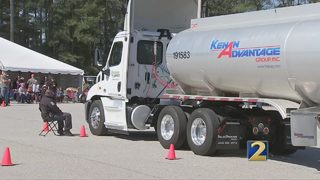 Big rig drivers help sick children and promote safety