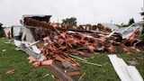 A mobile home was destroyed in the Sunshine City Mobile Home Park located in Plantation, Florida, Wednesday, October 19, 2011, after a tornado ripped through the area of West Broward County on Tuesday.