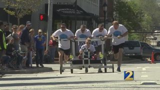 Nonprofit uses bed race competition to end homelessness