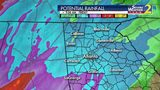Potential rainfall for Friday