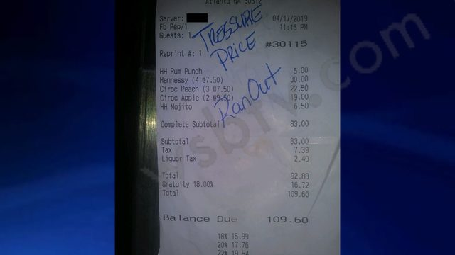 TRESURE PRICE: Harold's Chicken and Ice Bar says 'Love & Hip Hop Atlanta' star ditched bill, almost ran over employee