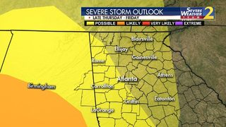 Storms driving toward north Georgia, could bring isolated tornadoes