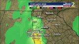 Be weather aware: Strong storms, possible isolated tornadoes moving in