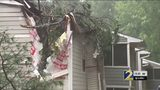 Tree smashes into apartment building in Peachtree Corners